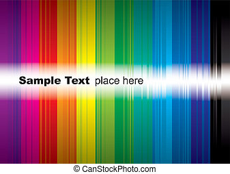 rainbow sample - brightly coloured rainbow background with...