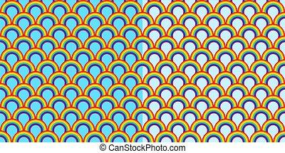 Rainbow Seamless Abstract Pattern Vector Illustration Art