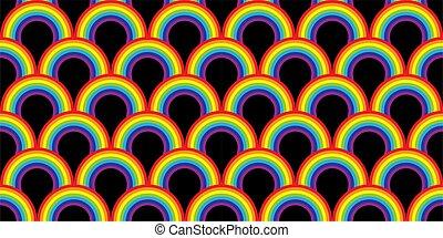 Rainbow Seamless Abstract Pattern Vector Illustration Background