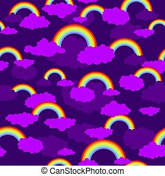 Rainbow seamless pattern