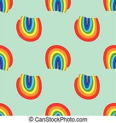 Rainbow seamless pattern vector hand drawn