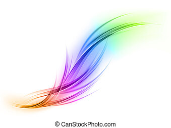 rainbow shape - Abstract shape in the rainbow colors