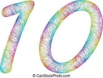 Rainbow sketch anniversary design - number 10