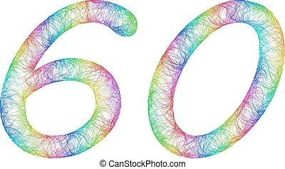 Rainbow sketch anniversary design - number 60