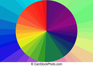 Rainbow spectral circle.