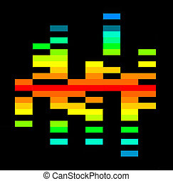 Rainbow Spectrum - A graphic equalizer in a rainbow color.