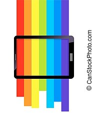Rainbow Spectrum Colors On Tablet