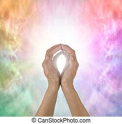 Rainbow Spectrum Energy healing hands