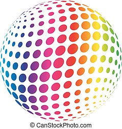 Rainbow spectrum sphere. Abstract vector illustration on...
