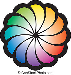 Rainbow Spiral Flower - Spiral pattern in the form of a...