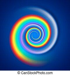 Rainbow spiral spectrum