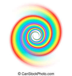 Rainbow spiral spectrum isolated on white background