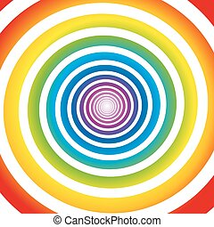 Rainbow colored gradient spiral. Isolated vector illustration on white background.