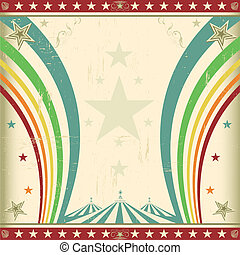 Rainbow square circus invitation - A retro square circus ...