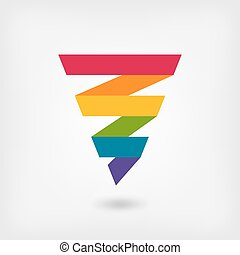 rainbow strip abstract symbol