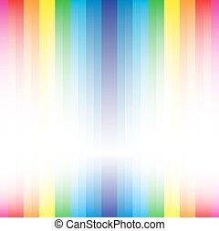 rainbow stripe diamond shape