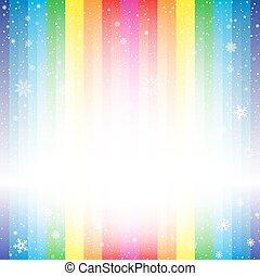 rainbow stripe snow backdrop