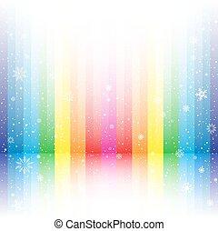rainbow stripe snow background
