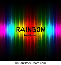rainbow striped color background with text