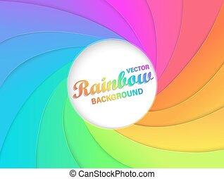 Rainbow swirl background.