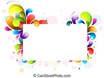 Rainbow Swirl Frame - Abstract Rainbow-Colored Swirls Frame...