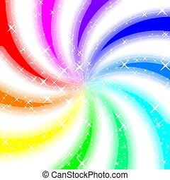 Rainbow swirl glowing background