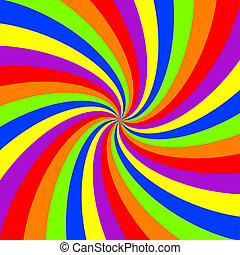 rainbow swirl pattern, abstract vector art illustration