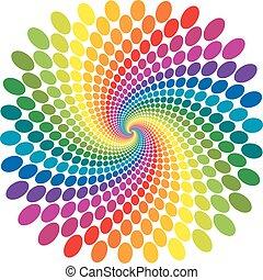 Rainbow swirl vector abstract