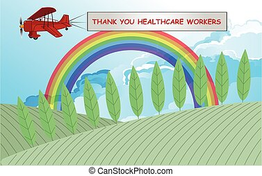 Rainbow symbol of support