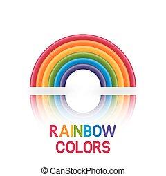 rainbow symbol six colors