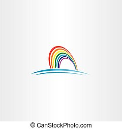 rainbow symbol vector icon