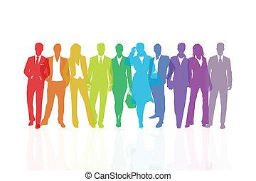 Rainbow team background