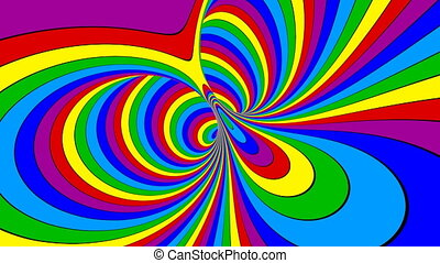 Rainbow Torus Motion - Rainbow torus motion. Looped...