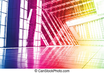 Rainbow Trendy Creative Abstract Wallpaper Background With...