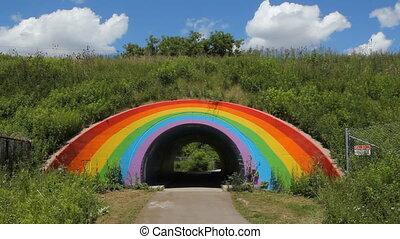 Rainbow tunnel. - Rainbow tunnel beside the Don Valley...
