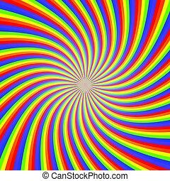 Rainbow Twist Illusion Abstract Background