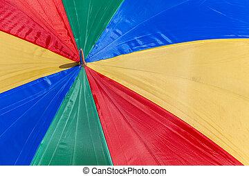 Rainbow umbrella parasol abstract texture background