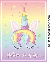 Rainbow unicorn on poster