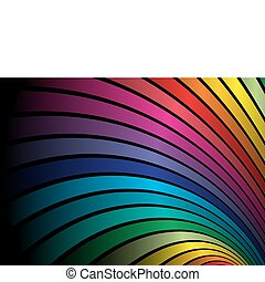 Rainbow vector abstrace arcs