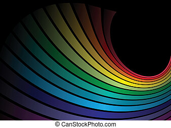 Rainbow vector abstract lined illus