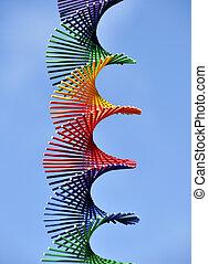 rainbow verfärbte, spirale
