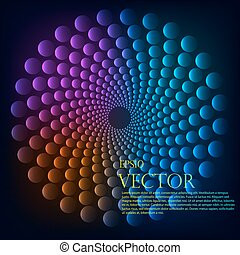 Rainbow vortex vector background. - Rainbow vortex vector...
