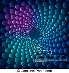 Rainbow vortex vector background.