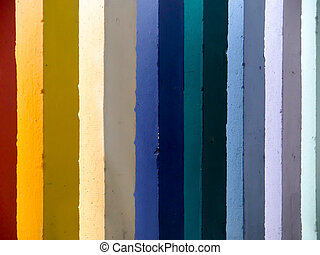 Rainbow wall seven color