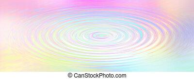 Rainbow Water Ripple
