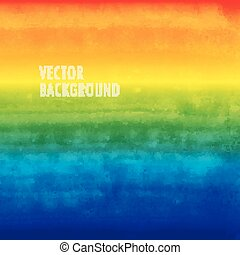 rainbow watercolor vector background. brushed ink texture.