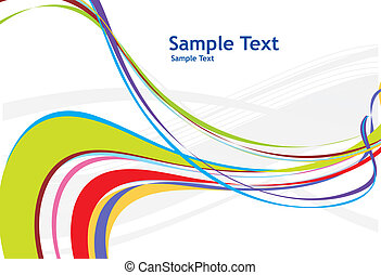 rainbow wave line background - abstract rainbow wave line...