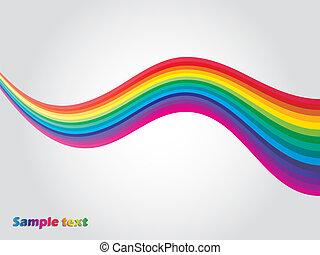 Rainbow wave - Separated rainbow waves on light gray ...