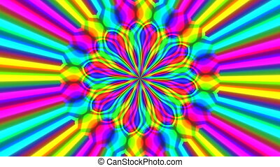 Rainbow waves seamless loop video - Rainbow waves generated...