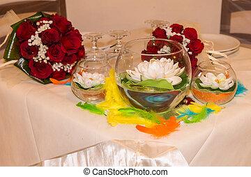 Rainbow wedding or event production